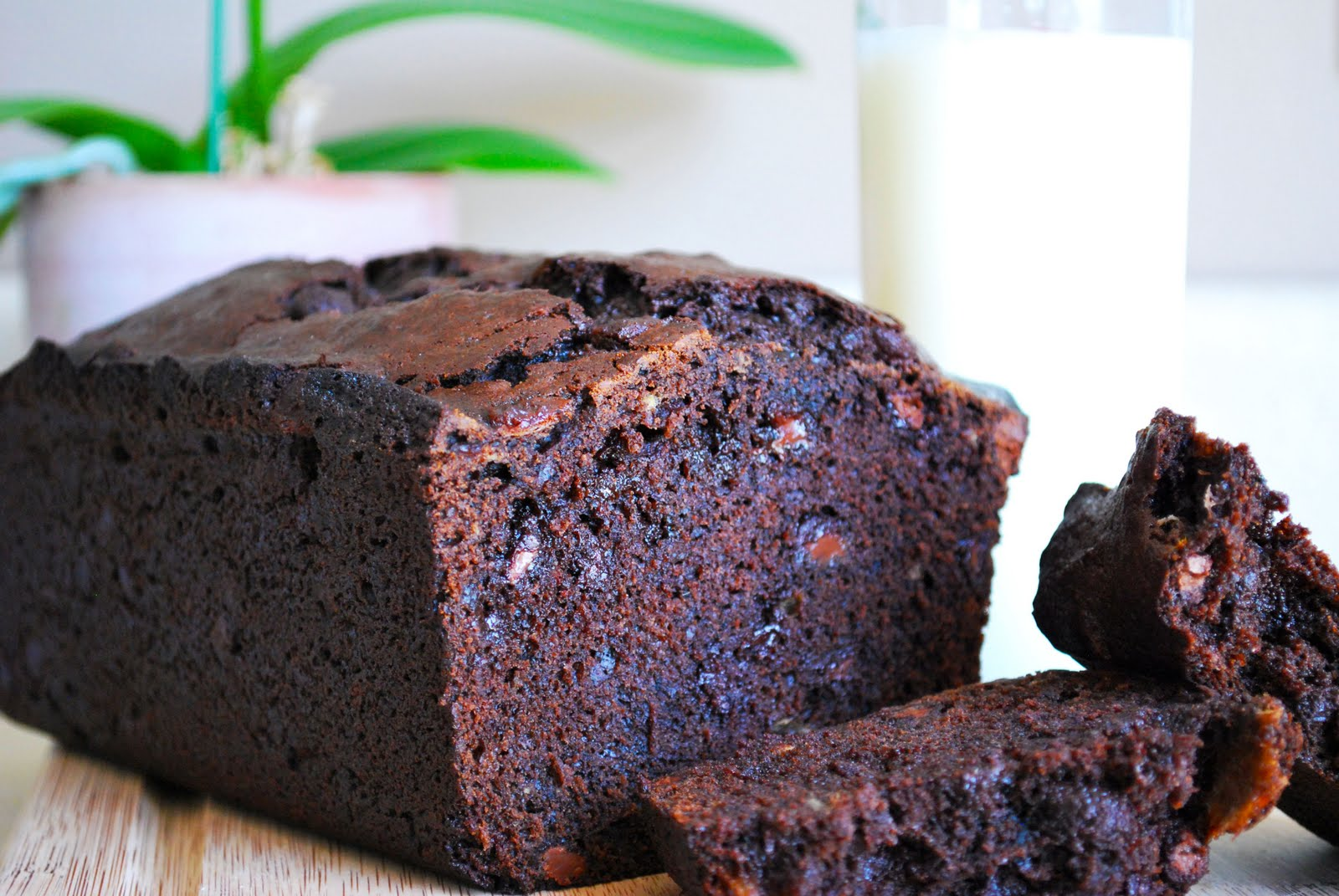 Chocolate Banana Bread for National Banana Bread Day!