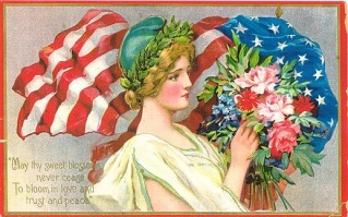 vintage-memorial-day-card-lady-liberty-blossoms