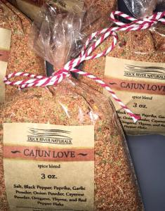 Custom spice blends by Duck River Naturals.