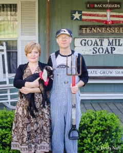 Vanessa and Nate Davis of Totty's Bend Soap Farm. Stop # 8 on this year's tour.